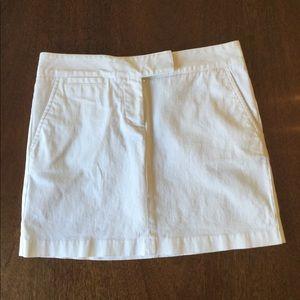 J.CREW White Chino Mini Skirt Sz.0